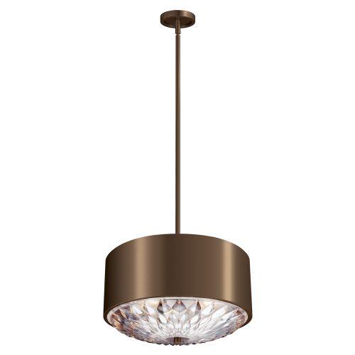 Feiss FE/BOTANIC/4P Botanic 4Lt Dark Aged Brass Ceiling Pendant/Semi-Flush