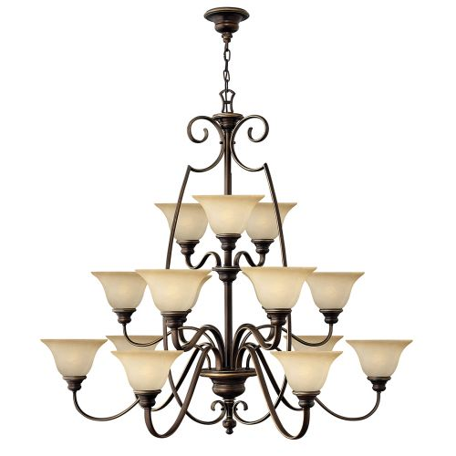 Hinkley HK/CELLO15 Cello 15Lt Antique Bronze Ceiling Chandelier