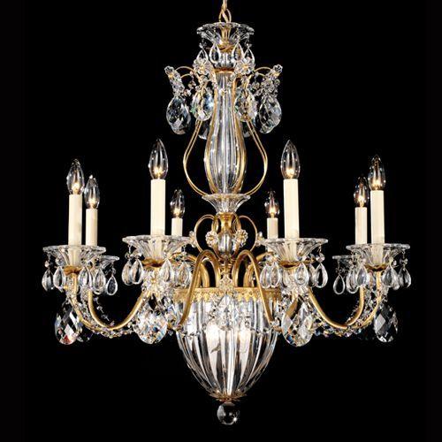 Schonbek 1248E Bagatelle 11Lt Heritage Crystal Ceiling Chandelier