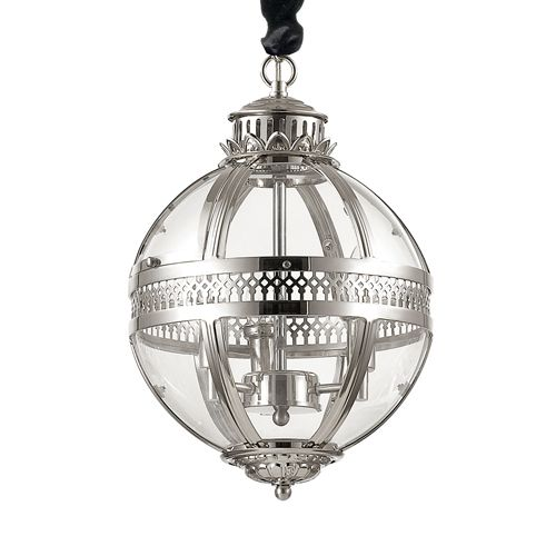 Ideal Lux 156323 World 3Lt Chrome Ceiling Globe Pendant