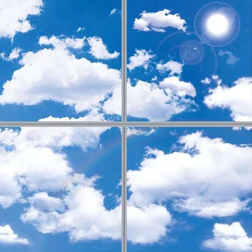 Lux General LED Panel Sky Ceiling Tiles 40W 600x600 mm 3D Effect Panels  Suspended Ceilings