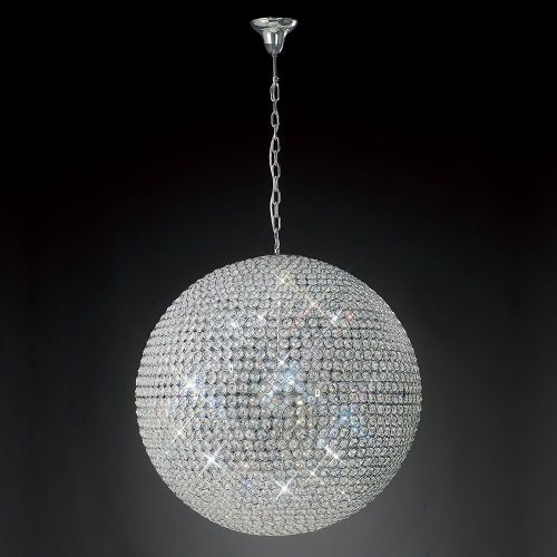 Diyas Ava  12 Light Pendant Polished Chrome/Crystal IL30202