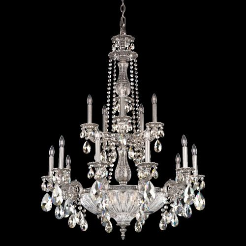 Schonbek 5694 Milano 19Lt Coloured Swarovski Crystal Ceiling Chandelier
