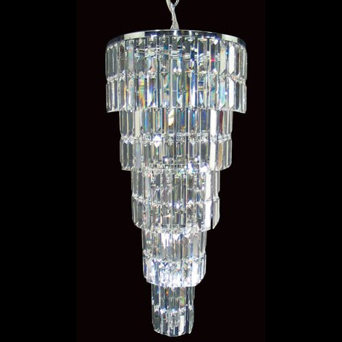 Impex CE20610/07/CH Padua 7Lt Polished Chrome Lead Crystal Ceiling Pendant