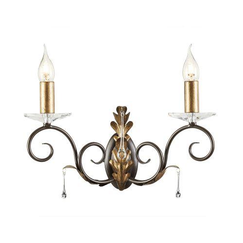 Elstead Amarilli 2lt Wall Light Bronze/Gold ELS/AML2 BRONZE