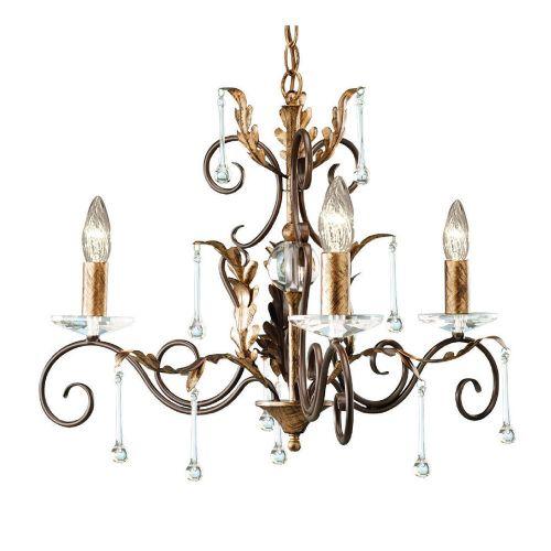 Elstead Amarilli 3lt Chandelier Bronze/Gold ELS/AML3 BRONZE