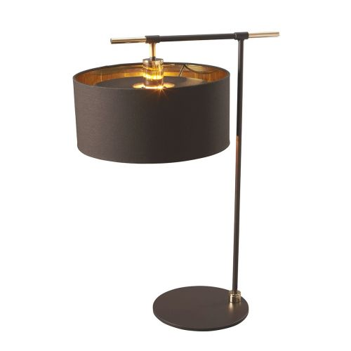Elstead Balance Table Lamp Brown/Polished Brass ELS/BALANCE/TL BRPB