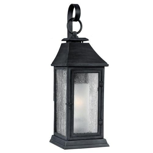 Feiss Shepherd Medium Outdoor Wall Lantern Weathered Zinc ELS/FE/SHEPHERD/2M
