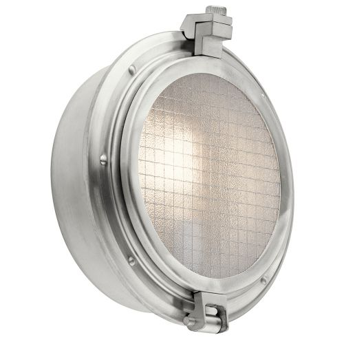 Kichler Clearpoint Single Outdoor Wall Light Brushed Aluminium ELS/KL/CLEARPOINT