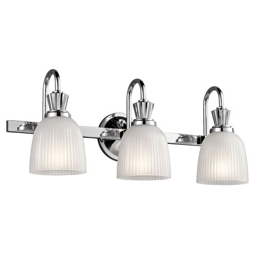 Kichler Cora 3lt Bathroom Wall Light Polished Chrome ELS/KL/CORA3 BATH