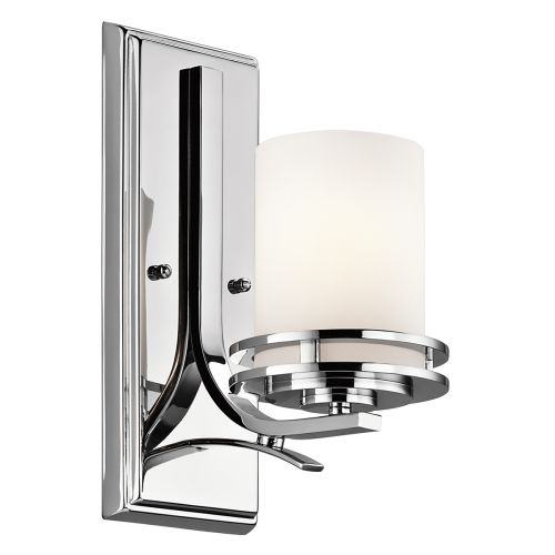 Kichler Hendrik 1lt Bathroom Wall Light Polished Chrome ELS/KL/HENDRIK1 BATH