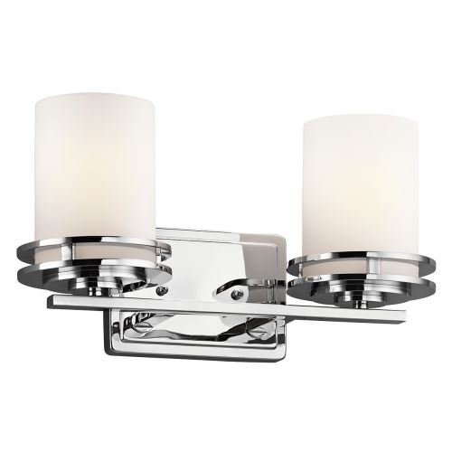Kichler Hendrik 2lt Bathroom Wall Light Polished Chrome ELS/KL/HENDRIK2 BATH