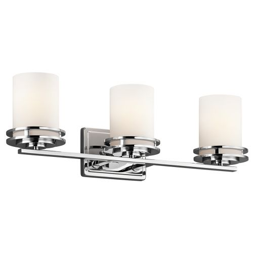 Kichler Hendrik 3lt Bathroom Wall Light Polished Chrome ELS/KL/HENDRIK3 BATH