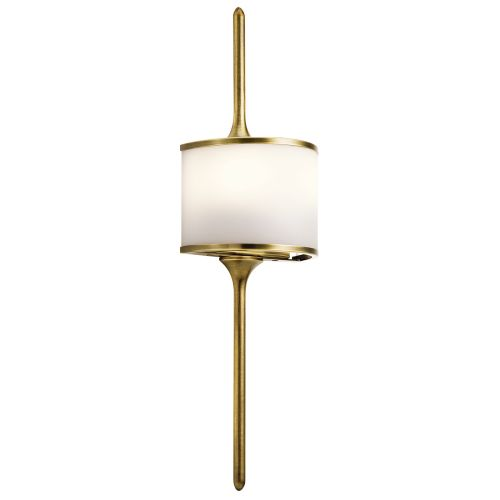 Kichler Mona 2lt Wall Light Natural Brass ELS/KL/MONA/S NBR