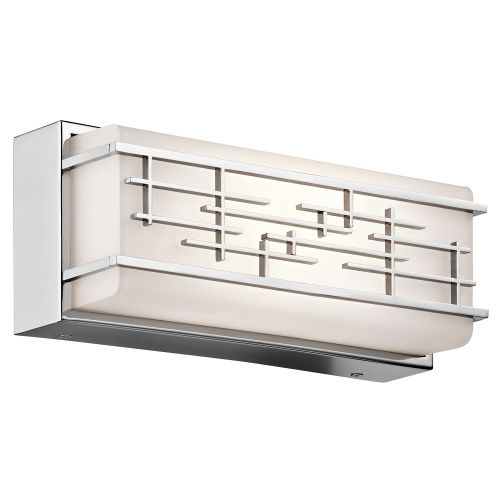 Kichler Zolon Small Linear Bathroom Wall Light Chrome ELS/KL/ZOLON/S BATH