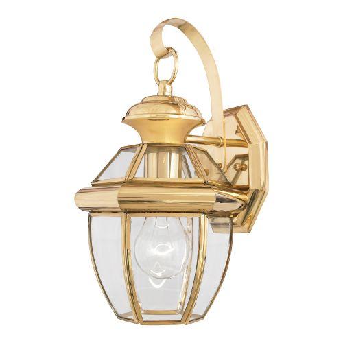 Quoizel Newbury Small Outdoor Wall Lantern Polished Brass ELS/QZ/NEWBURY2/S