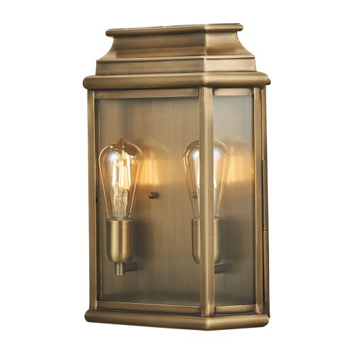 Elstead St Martins Large Outdoor Wall Lantern Aged Brass ST MARTINS/L BR