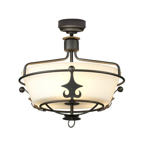 Elstead Windsor Graphite Semi-Flush Ceiling Light Graphite WINDSOR/SF GR