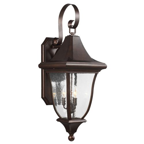 Feiss Oakmont Large Outdoor Wall Lantern Patina Bronze FE/OAKMONT2/L