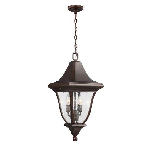 Feiss Oakmont Medium Chain Outdoor Lantern Patina Bronze FE/OAKMONT8/M