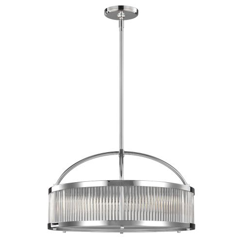 Feiss Paulson 6Lt Bathroom Pendant Light Chrome FE/PAULSON/6P