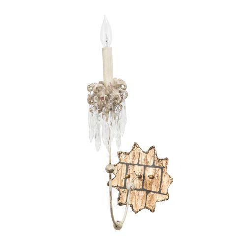 Flambeau Venetian 1 Lt Wall Light Beige Patina Gold FB/VENETIAN/W1