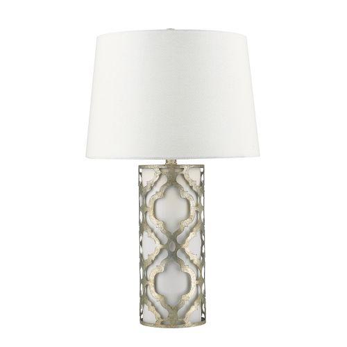 Gilded Nola Arabella Table Lamp Distressed Silver GN/ARABELLA/TL/S