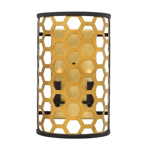 Hinkley Felix 2Lt Wall Light Sunset Gold HK/FELIX2