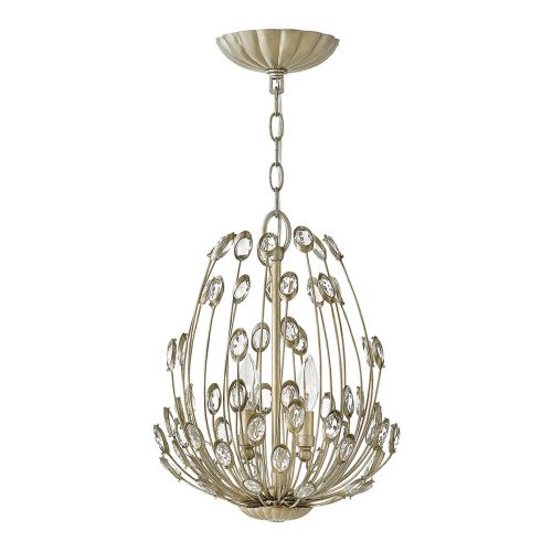 Hinkley Tulah 3Lt Pendant Light Silver Leaf HK/TULAH/3P