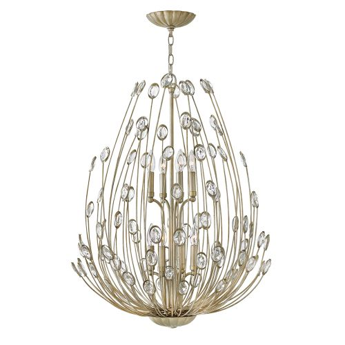 Hinkley Tulah 8Lt Two Tier Chandelier Silver Leaf HK/TULAH8