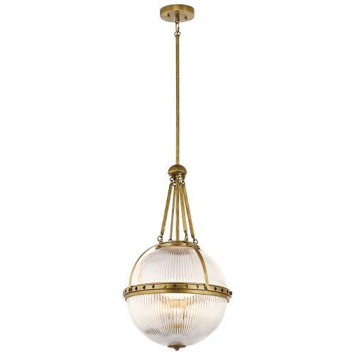 Kichler Aster 3Lt Pendant Light Natural Brass KL/ASTER/P NBR