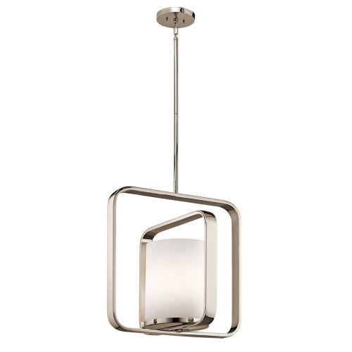 Kichler City Loft Large Pendant Light Polished Nickel KL/CITY LOFT/P/L