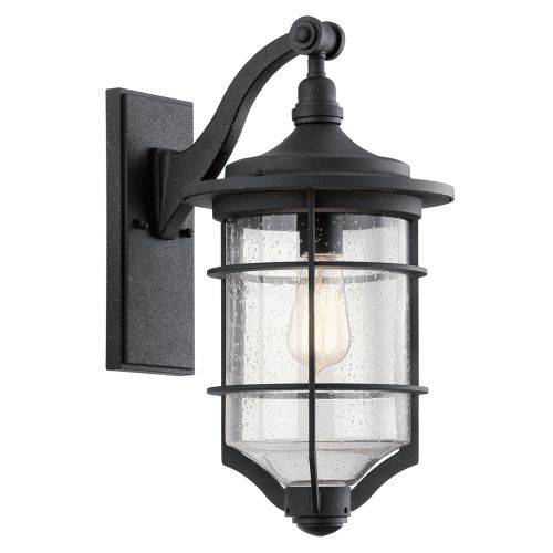Kichler Royal Marine Medium Outdoor Wall Lantern Distressed Black KL/ROYALMARIN2/M