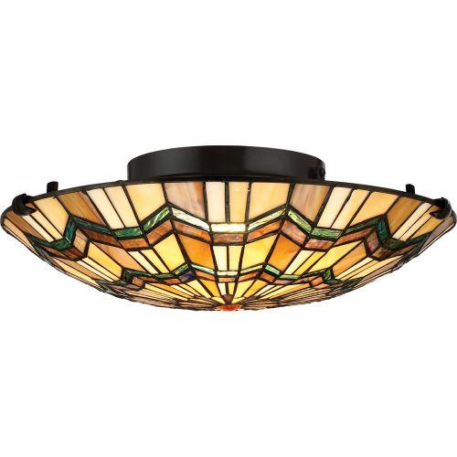 Quoizel Alcott 2Lt Flush Mount Ceiling Light Valiant Bronze QZ/ALCOTT/F