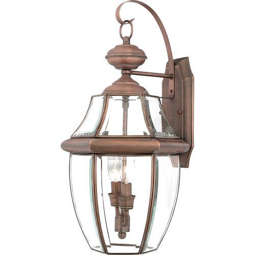 Quoizel Newbury Large Wall Lantern Aged Copper QZ/NEWBURY2/L AC