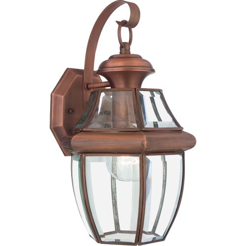 Quoizel Newbury Medium Outdoor Wall Lantern Aged Copper QZ/NEWBURY2/M AC