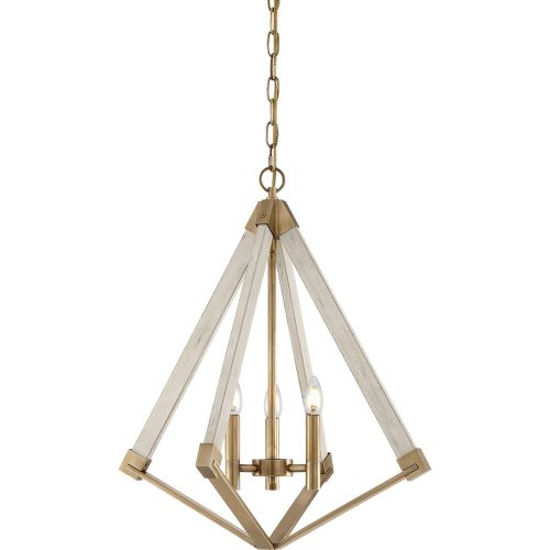 Quoizel View Point 3Lt Chandelier Weathered Brass QZ/VIEWPOINT/S