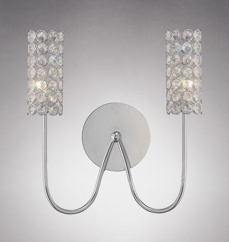 Diyas IL20620 Martina Wall Light 2 Light Polished Chrome Crystal