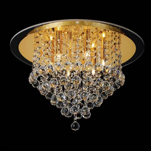 Diyas IL30209 Atla Ceiling 6 Light French Gold/Crystal