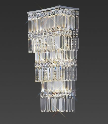 Diyas Gianni 4 Light Wall Lamp  Polished Chrome/Crystal IL30640