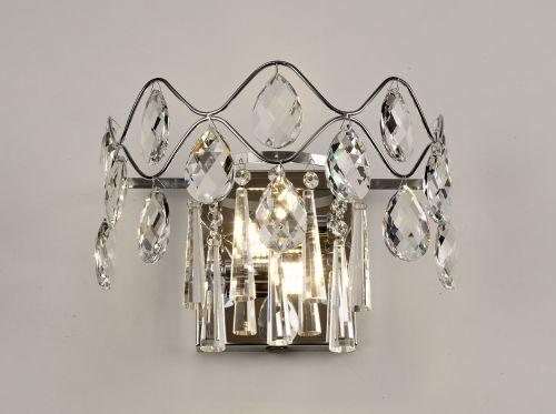Diyas IL31060/G9 Kenzie Crystal Double Wall Lamp Polished Chrome Frame