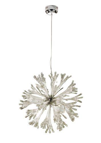Diyas IL50434 Love Pendant Large 11 Light Polished Chrome White Glass