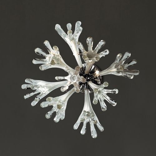 Diyas IL50432 Love Ceiling Wall Lamp 6 Light Polished Chrome White Glass