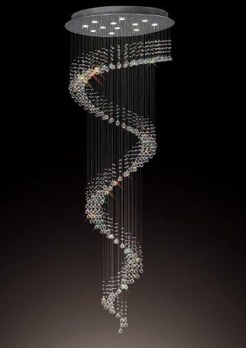 Diyas  Colorado 12 Light Multi-Spiral Pendant  Polished Chrome/Crystal IL31373