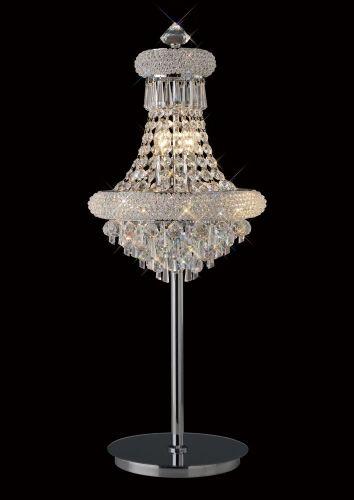 Diyas  Alexandra Table Lamp 5 Light Polished Chrome/Crystal IL31443
