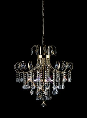 Diyas IL32055 Rosina Pendant 6 Light French Gold Crystal