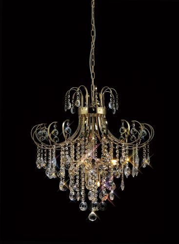Diyas IL32056 Rosina Pendant 7 Light French Gold Crystal