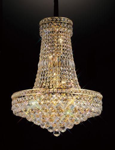 Diyas IL32090 Frances Crystal 14 Light Pendant French Gold Frame