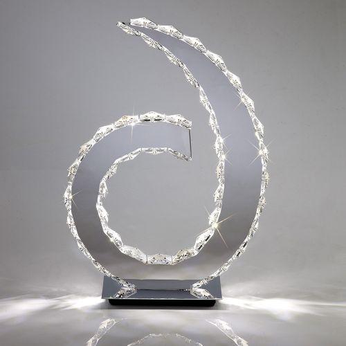 Diyas IL80000 Galaxy Table Lamp D Shape Light 18 X 0.5W LED Polished Chrome Crystal 6000K