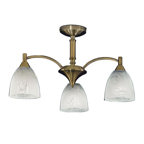 Semi-Flush Ceiling 3 Light Fitting Bronze Harriet LEK60473